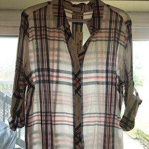 Tops - NWT Hester & Orchard Plaid Shirt Large